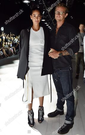 Former Model Lindy Klim (l) and Her Partner Adam Ellis Pose For a Picture Ahead of the Ginger & Smart's Show at the Mercedes-benz Fashion Week Australia in Sydney Australia 16 May 2016 the Show Runs From 15 to 20 May 2016