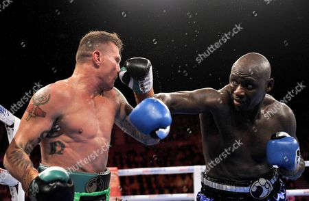 America's Antonio Tarver (right) Lands a Punch On Danny Green of Australia During Their Ibo Cruiserweight Title Fight in Sydney Australia On Wednesday July 20 2011