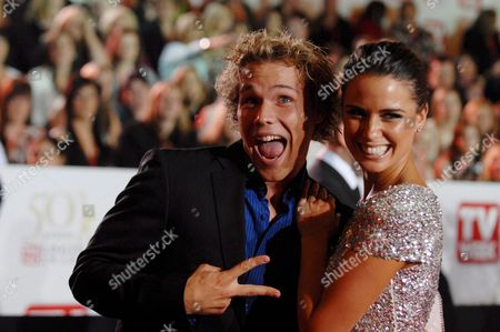 Australian Actors Lincoln Lewis (l) and Jodi Gordon Arrive at the Logie Awards in Melbourne Australia 4 May 2008