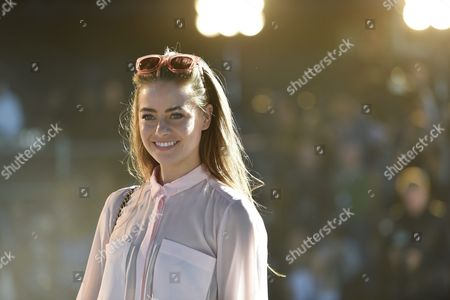 Australian Actress and Former Model April Rose Pengilly Arrives For the Australia-based Label Manning Cartell's Show During the Mercades-benz Fashion Week Australia in Sydney Australia 17 May 2016 the Show Runs From 15 to 20 May