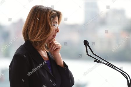 Canadian Author and Climate Change Activist Naomi Klein Speaks During a Press Conference at the Sydney Opera House in Sydney Australia 03 September 2015 Naomi Klein Will Be Speaking at the Festival of Dangerous Ideas This Weekend