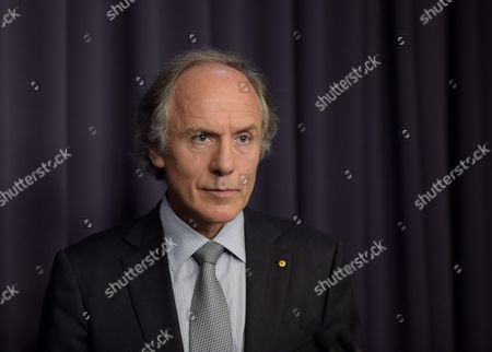 Newly Appointed Chief Scientist Dr Alan Finkel Speaks to the Media During a Press Conference at Parliament House in Canberra Australia 27 October 2015 Dr Finkel Will Replace Current Chief Scientist Professor Ian Chubb Whose Appointment Finishes at the End of the Year