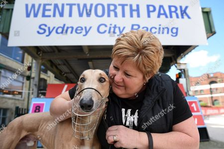 Greyhound Breeder and Trainer Annette Fleming Poses For a Photograph with Her Dog Jett at Wentworth Park Race Track in Sydney New South Wales (nsw) Australia 11 October 2016 Nsw Premier Mike Baird Has Performed an Extraordinary Backflip On His Greyhound Racing Ban After Yielding to Sustained Industry and Media Pressure