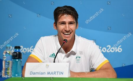 Australian Basketballer Damian Martin Looks On During an Australian Olympic Committee (aoc) Press Conference at the Rio Olympic Games Main Press Centre in Rio De Janeiro Brazil 02 August 2016 the Rio 2016 Olympics Will Take Place From 05 Until 21 August 2016