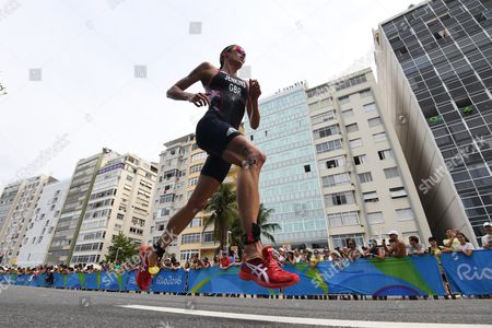 Helen Jenkins of Great Britain Competes During the Run Leg of the Women's Triathlon at Fort Copacabana in Rio De Janeiro Brazil 20 August 2016