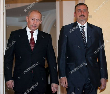 Russian President Vladimir Putin (r) Speaks with President of Azerbaijan Ilkham Aliev (l) As They Meet During the Second Summit of the Conference On Interaction and Confidence Building Measures in Asia (cica) in Almaty Friday 16 June 2006