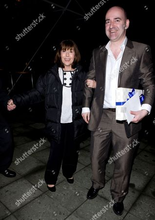 Stock Picture of Elisabeth Sladen  arrives with Nick Briggs, the voice of the Daleks.
