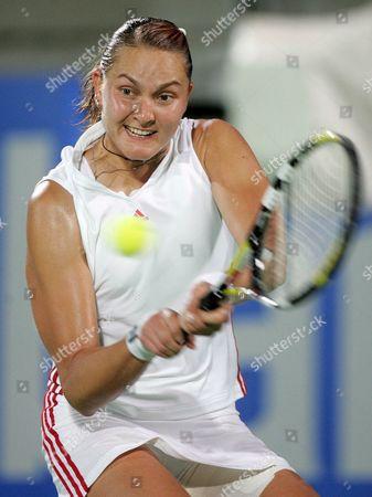 Editorial photo of Tennis Sydney International Petrova - Jan 2006