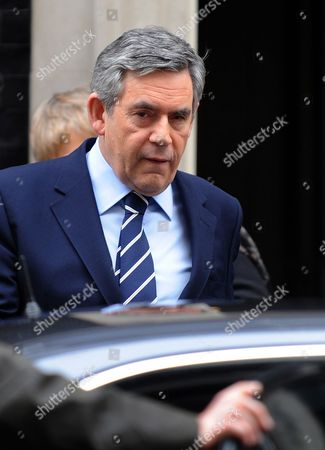 British Prime Minister Gordon Brown Departs 10 Downing Street For Prime Minister's Questions at the House of Commons in London Britain 03 February 2010 Gordon Brown was 'Marginalised' by Tony Blair in the Build-up to the Iraq War Former International Development Secretary Clare Short Said 02 February at the Iraq Inquiry United Kingdom London