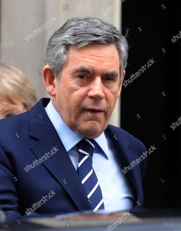 Stock Image of British Prime Minister Gordon Brown Departs 10 Downing Street For Prime Minister's Questions at the House of Commons in London Britain 03 February 2010 Gordon Brown was 'Marginalised' by Tony Blair in the Build-up to the Iraq War Former International Development Secretary Clare Short Said 02 February at the Iraq Inquiry United Kingdom London