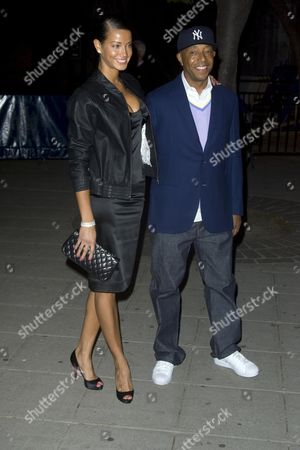 Porschla Coleman and Russell Simmons