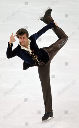 Stock Photo of Ryan Bradley of the Usa Performs During the Men's Free Skating at the Figure Skating World Championships 2011 in Moscow Russia 28 April 2011 Russian Federation Moscow