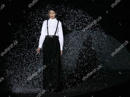 A Model Presents a Creation by Russian Actress Renata Litvinova For Selvaggio Fashion House at the Volvo Fashion Week Moscow Fall-winter 2011 in Moscow Russia 30 March 2011 the Fashion Week Runs From 29 March to 04 April Russian Federation Moscow
