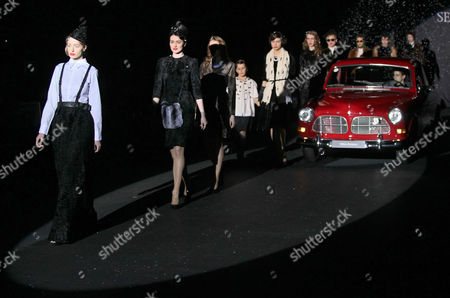 Models Present Creations by Russian Actress Renata Litvinova For Selvaggio Fashion House at the Volvo Fashion Week Moscow Fall-winter 2011 in Moscow Russia 30 March 2011 the Fashion Week Runs From 29 March to 04 April Russian Federation Moscow