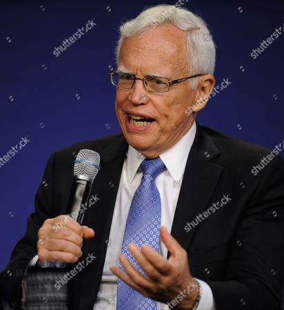 Stock Image of Nobel Prize Winning Economics Professor at the University of Chicago James Heckman Speaks During the Second Plenary Session of the Clinton Global Initiative on Improving Education in the Us at the Sheraton Hotel in Chicago Illinois Usa 29 June 2011 Cgi America Brings Together Leaders From Government and Business to Address Current Obstacles to Job Growth and Education in Urban and Rural Areas United States Chicago