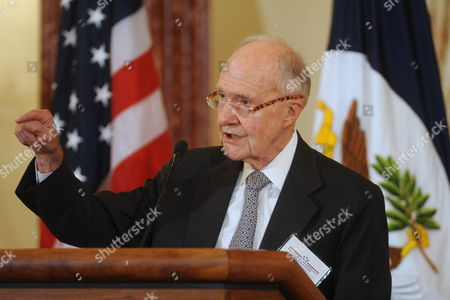 Retired Lieutenant General Brent Scowcroft of the United States Air Force Delivers Remarks at a Luncheon Commemorating the 50th Anniversary of George C Marshall's Death in Washington Dc Usa 16 October 2009 Marshall was an American Military Leader Chief of Staff of the Army Secretary of State and the Third Secretary of Defense Marshall is Considered to Be the 'Architect of Victory' in World War Ii and in 1953 He Won the Nobel Peace Prize Secretary of Defense Gates Received the George C Marshall Foundation Award at the Event Honoring Marshall's Life and Legacy United States Washington