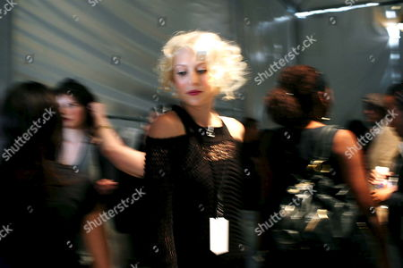 Models Prepare For the Kelly Nishimoto Show Backstage at the Los Angeles Mercedes-benz Fashion Week in Los Angeles California Usa 09 March 2008 This Year's Fall Season Showcased Over Twenty Designers United States Los Angeles