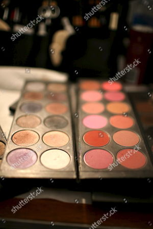 A Makeup Artist's Gear Awaits Another Model Before the Kelly Nishimoto Show Backstage at the Los Angeles Mercedes-benz Fashion Week in Los Angeles California Usa 09 March 2008 This Year's Fall Season Showcased Over Twenty Designers United States Los Angeles