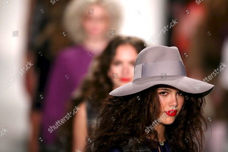 Models Wearing the Designs of Kelly Nishimoto Walk the Catwalk at the Los Angeles Mercedes-benz Fashion Week in Los Angeles California On 09 March 2008 This Year's Fall Season Showcased Over Twenty Designers