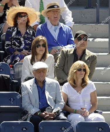 Us Singer Tony Bennet and His Wife Susan Crow (bottom Row) and Us Actor Gene Wilder and His Wife Karen (top Row) Watch Mikhail Youzhny of Russia Play Rafael Nadal of Spain During Their Semifinal Round Match at the 2010 Us Open Tennis Championship at the Usta National Tennis Center in Flushing Meadows New York Usa 11 September 2010 the Us Open Championship Runs Through 12 September when the Men's Final is Scheduled to Be Played United States Flushing Meadows