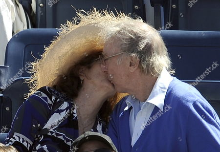 Us Actor Gene Wilder Kisses His Wife Karen As Rafael Nadal of Spain Plays Mikhail Youzhny of Russia During Their Semifinal Round Match at the 2010 Us Open Tennis Championship at the Usta National Tennis Center in Flushing Meadows New York Usa 11 September 2010 the Us Open Championship Runs Through 12 September when the Men's Final is Scheduled to Be Played United States Flushing Meadows