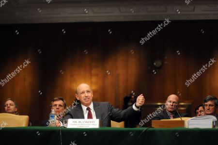 Stock Picture of Lloyd C Blankfein Chairman and Chief Executive Officer the Goldman Sachs Group Testifies Before the U S Senate Permanent Subcommittee on Investigations During a Hearing of the Us Senate Permanent Subcommittee on Investigations During a Hearing on 'Wall Street and the Financial Crisis: the Role of Investment Banks ' on Capitol Hill in Washington Usa 27 April 2010 the Hearing Focuses on the Role of Investment Banks in the Securitization of Residential Mortgage Related Products United States Washington