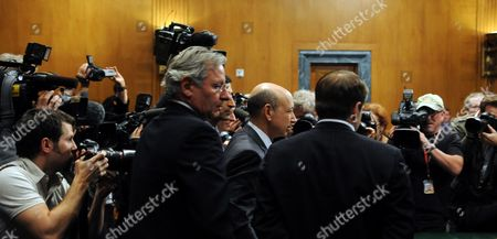 Lloyd C Blankfein Chairman and Chief Executive Officer the Goldman Sachs Group Arrives to Testify Before the U S Senate Permanent Subcommittee on Investigations During a Hearing on 'Wall Street and the Financial Crisis: the Role of Investment Banks ' on Capitol Hill in Washington Dc Usa 27 April 2010 the Hearing Focuses on the Role of Investment Banks in the Securitization of Residential Mortgage Related Products United States Washington