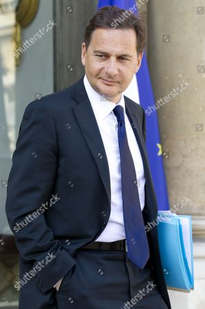 French Energy Industry and Digital Economy Minister Eric Besson Leaves the Elysee Palace After the Weekly Cabinet Meeting in Paris France 06 April 2011 France Paris