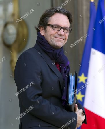 French Junior Minister For Trade Small- and Medium-sized Businesses Tourism the Service Industry Independent Professions and Consumption Frederic Lefebvre Leaves the Elysee Palace After the Weekly Cabinet Meeting in Paris France 30 November 2010 France Paris