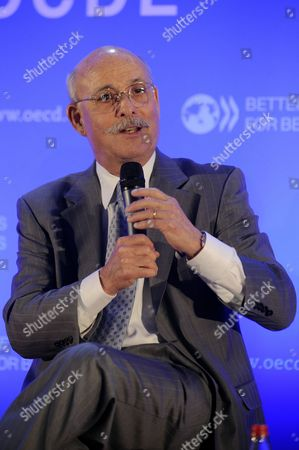 Founder and President of Foundation on Economic Trends Jeremy Rifkin Speaks During the 'New Sources of Growth: Green Your Life!' Session of the Oecd 50th Anniversary Forum at the Oecd Headquarters in Paris France 24 May 2011 France Paris