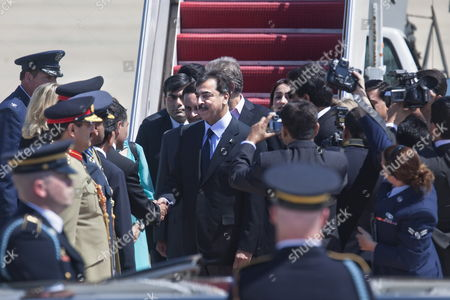 Pakistani Prime Minister Syed Yousuf Raza Gilani (c) Arrives at Andrews Air Force Base Outside Washington Dc For the Nuclear Security Summit Which is Bringing Political Leaders From All Over the World to the Dc Area on 11 April 2010 United States Andrews Airforce Base