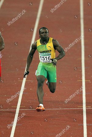 Jamaica Lerone Clarke Wins in the Men's 100m Final of the Track and Field Competition of the Commonwealth Games in New Delhi India on 7 October 2010 Jamaica's Lerone Clarke Powered to the Men's 100 Metres Title at the Commonwealth Games Crossing the Line in 10 12 Seconds Followed by England's Mark Anthony Lewis- India New Delhi