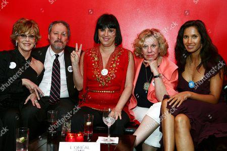Jane Fonda, Jim Burrows, Eve Ensler, Erica Jong and Padma Lakshmi