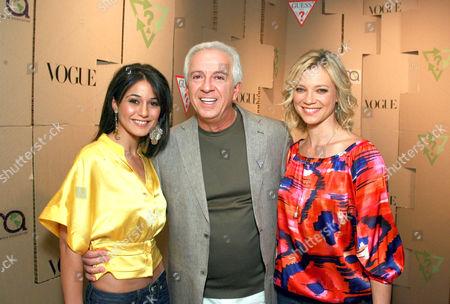 Emmanuelle Chriqui, Paul Marciano and Amy Smart