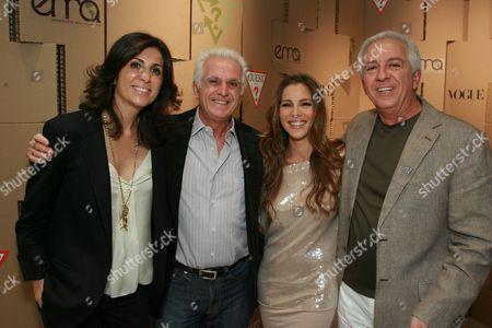 Natalie Marciano, Maurice Marciano, Elsa Pataky & Paul Marciano