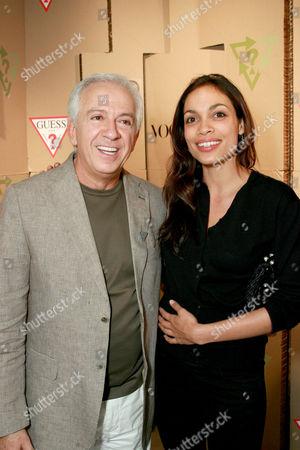 Paul Marciano and Rosario Dawson