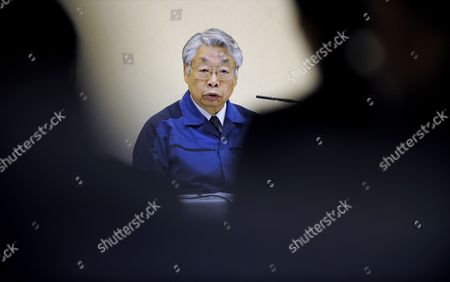 Tokyo Electric Power Co (tepco) Executive Vice-president Takashi Fujimoto Attends to a News Conference at the Company Headquarters in Tokyo Japan 05 April 2011 Shares of Tepco Continued to Drop After the Company Started to Dump Radioactive Water Into the Sea From Its Quake-hit Fukushima Daiichi Nuclear Plant Tepco Stock Fell to Mark Its Lowest Price in 59 Years After Concerns Over Compensation Payments the Firm Will Face For Damages Japan Tokyo