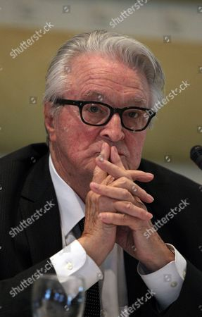 Former French Foreign Minister Roland Dumas Attends a News Conference with French Lawyer Jacques Verges (not in Picture) in Tripoli Libya on 29 May 2011 According to Media Reports Vergers and Dumas Said During Their Joint Media Conference That Nato is Bombarding Civilians in Libya and That They Would Represent Families of the Victims in an Action to Sue Nato Libyan Arab Jamahiriya Tripoli
