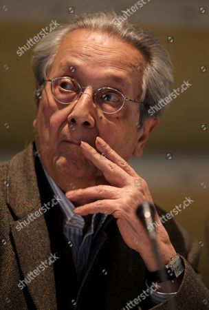Stock Picture of French Lawyer Jacques Verges Attends a News Conference with Former French Foreign Minister Roland Dumas (not in Picture) in Tripoli Libya on 29 May 2011 According to Media Reports Vergers and Dumas Said During Their Joint Media Conference That Nato is Bombarding Civilians in Libya and That They Would Represent Families of the Victims in an Action to Sue Nato Libyan Arab Jamahiriya Tripoli