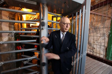 Jewish British Mp Gerald Kaufman is Seen As He Visits Along with Hamas Member Azziz Dweik (unseen) of the Palestinian Legislative Council (plc) the Old District of the Restive Mainly Palestinian City of Hebron in the Israeli Occupied West Bank on 01 November 2010 - Hebron