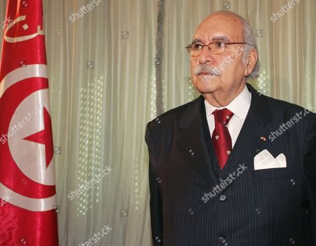 Tunisian Interim President Fouad Mebazaa Poses For Photographers in His Office at the Carthage Palace in Tunis Tunisia on 28 January 2011 Members of the Political Old Guard in Tunisia Had Left the Interim Cabinet the Day Before After Days of Protests Calling For the Allies of Ousted Leader Zine El-abidine Ben Ali to Step Down Tunisia Tunis