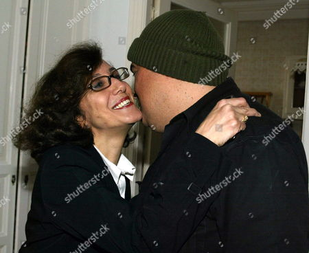Tunisian Journalist Taoufik Ben Brik (r) is Welcomed by His Wife Azza Upon His Arrival at His Home in Tunis Tunisia 27 April 2010 Ben Brik was Freed 27 April After Spending Six Months in Jail For Assault Charges Which According to the Media Watchdog Reporter Sans Frontieres and His Lawyer Were Trumped Up the Journalist Has Been Known For His Criticism of Tunisian President Zine El Abidine Ben Ali Tunisia Tunis