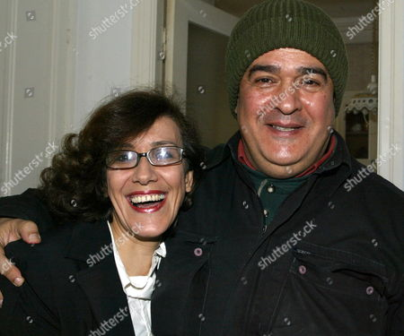 Tunisian Journalist Taoufik Ben Brik (r) and His Wife Azza Pose For a Photograph Upon His Arrival at His Home in Tunis Tunisia 27 April 2010 Ben Brik was Freed 27 April After Spending Six Months in Jail For Assault Charges Which According to the Media Watchdog Reporter Sans Frontieres and His Lawyer Were Trumped Up the Journalist Has Been Known For His Criticism of Tunisian President Zine El Abidine Ben Ali Tunisia Tunis