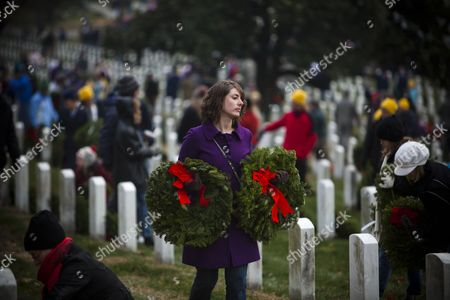 Editorial photo of Usa Arlington Holiday Wreaths - Dec 2010