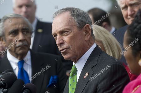 Mayors Against Illegal Guns Co-chair and New York City Mayor Michael R Bloomberg Walks to a Press Conference on Fixing the Nation's Broken Background Check System on Capitol Hill in Washington Dc Usa 15 March 2011 the Bill Will Match Comprehensive Legislation Recently Introduced by Senator Charles E Schumer Which was Modeled After a Proposal Developed by Mayors Against Illegal Guns United States Washington