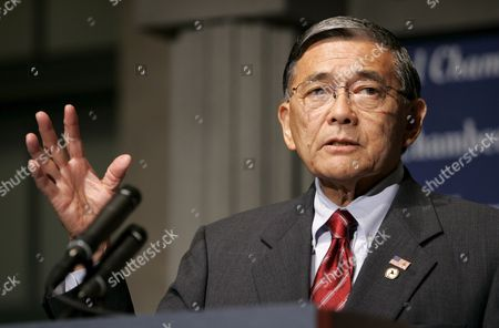 U S Secretary of Transportation Norman Mineta Addresses the U S Chamber of Commerce in Washington Dc Thursday 6 July 2006 It Was Mineta's Last Public Address Before Resigning His Post He Was the Only Democrat in President George W Bush's Cabinet