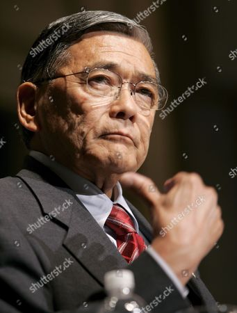 U S Secretary of Transportation Norman Mineta Addresses the U S Chamber of Commerce in Washington Dc Thursday 06 July 2006 It Was Mineta's Last Public Address Before Resigning His Post He Was the Only Democrat in President George W Bush's Cabinet