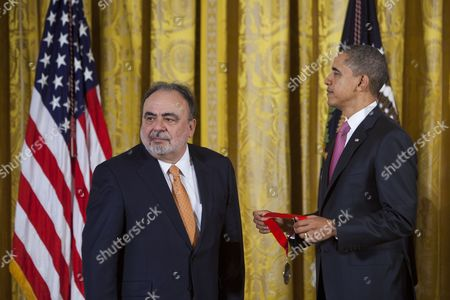Editorial photo of Usa Obama Humanities Medal - Mar 2011