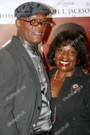 Stock Image of Samuel L Jackson and his wife La Tanya Richardson