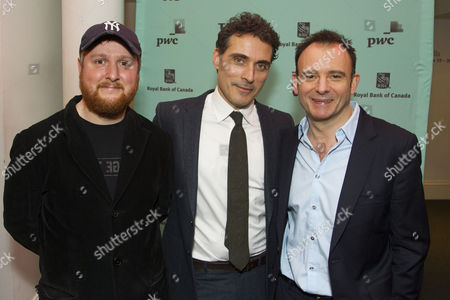 Tim Key (Yvan), Rufus Sewell (Serge) and Matthew Warchus (Director)